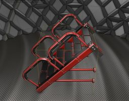 Sci-Fi Stairs - 25 - Red Version 3D asset
