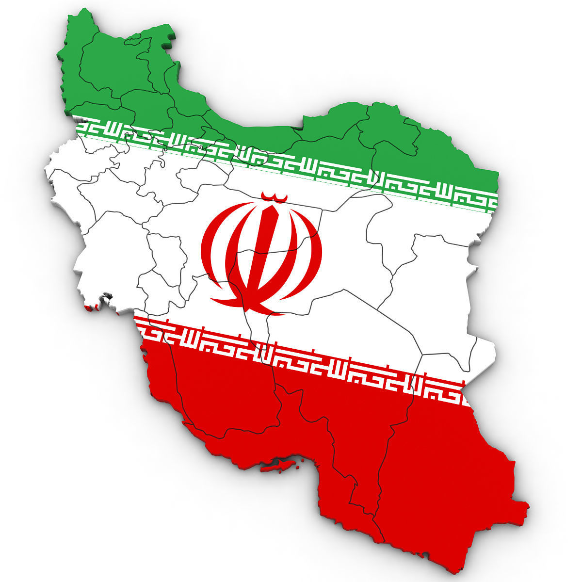 Image of: 3d Political Map Of Iran Cgtrader