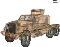 3D model realtime Military Freight truck