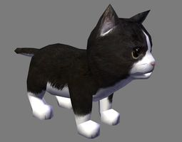 3D asset cat with animation