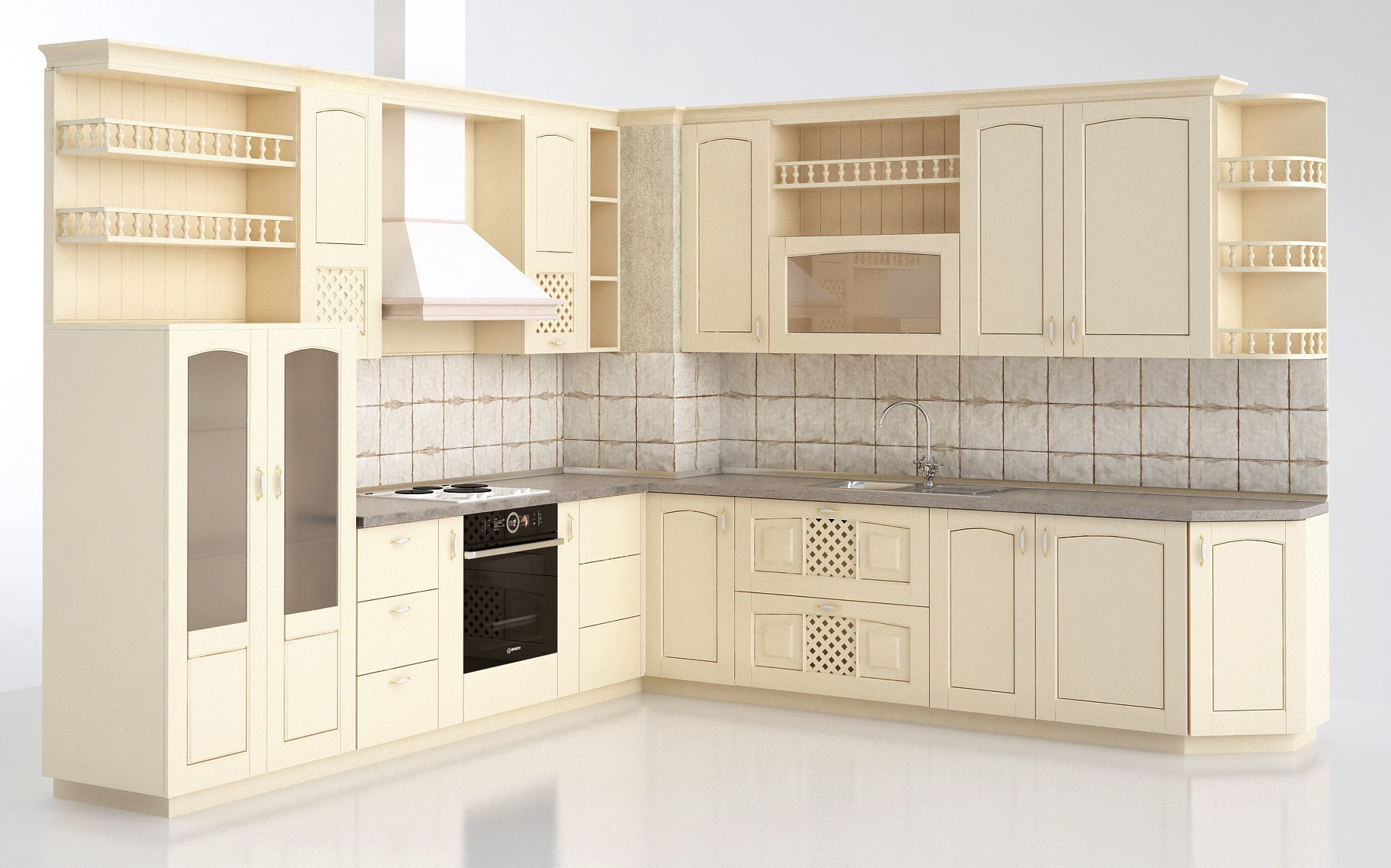 ginevra vaniglia kitchen Cucine classiche   3D model