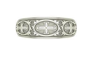 3D printable model beautiful Cross ornament ring