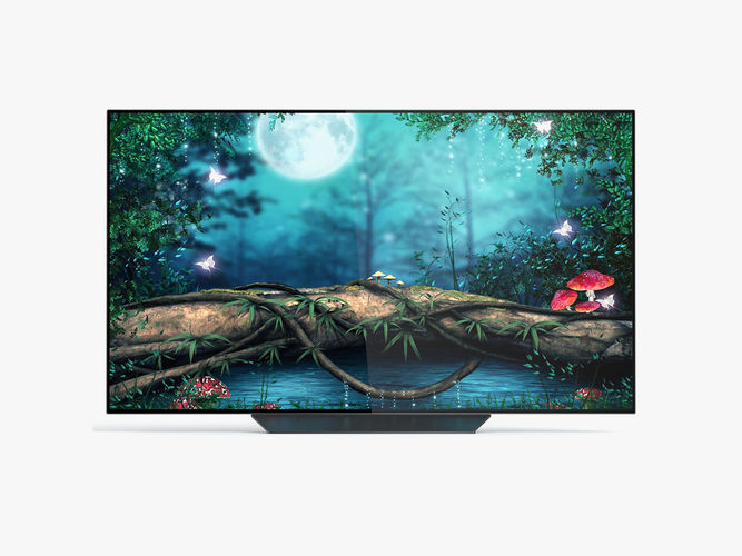 lg oled65b8pua oled smart tv 3d model max obj mtl 3ds fbx c4d ma mb 1