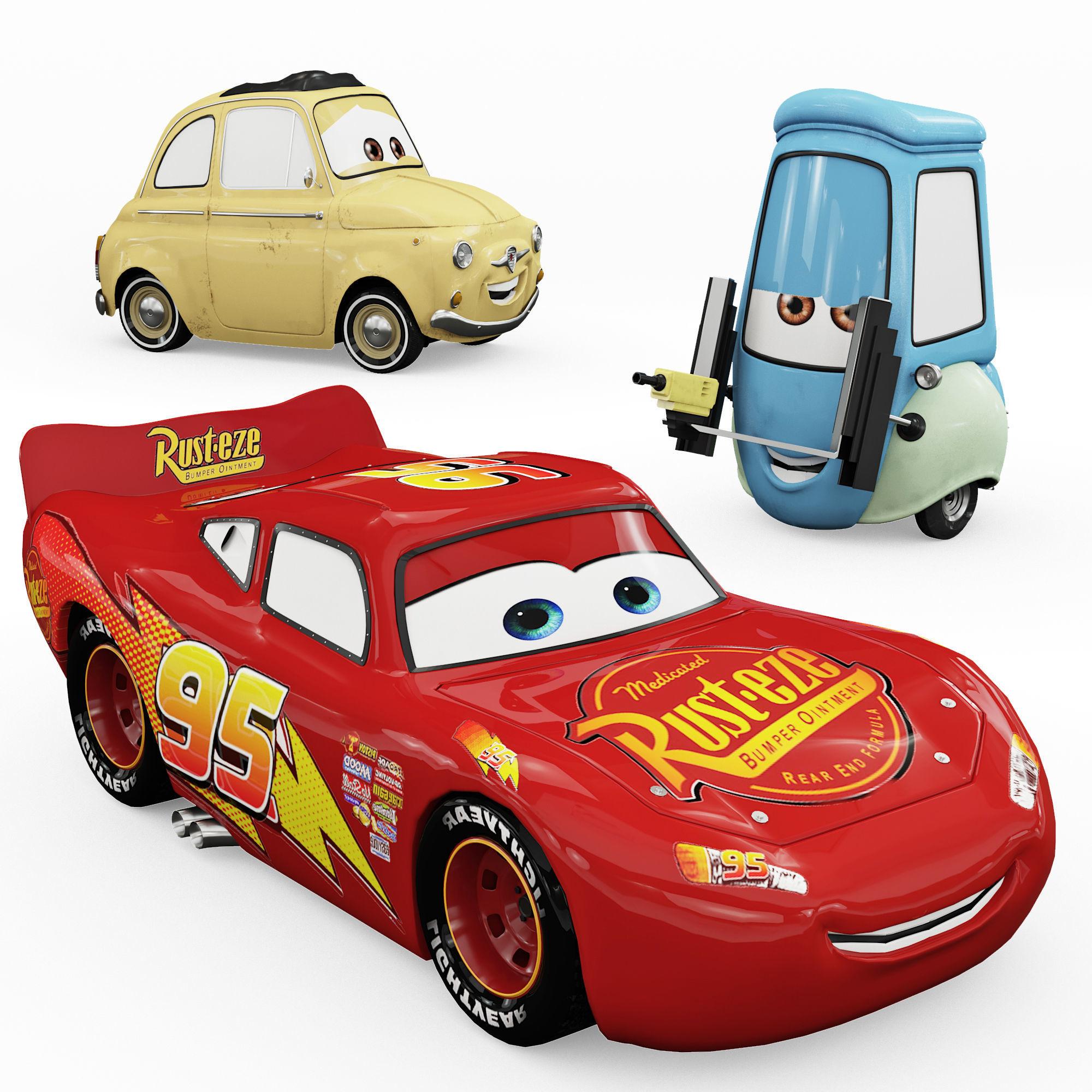 Toys Cars Lightning Mcqueen Guido Luigi 3d Cgtrader