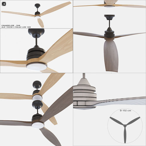 ceiling fan faro barcelona alo 152cm 3d model max obj mtl 1