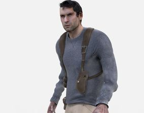 3D asset Realistic Action Man