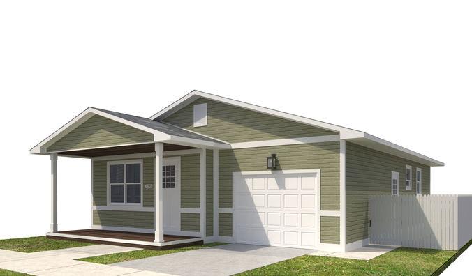 house-037 3d model max obj mtl 3ds fbx dwg 1