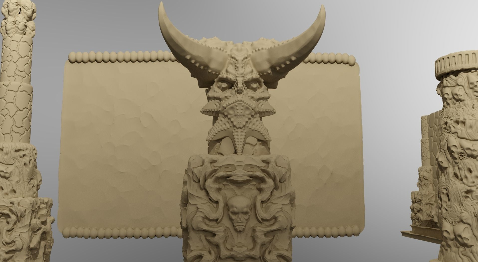Temple of the Demon King Printable Scenery | 3D Print Model