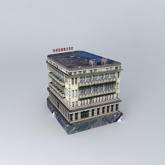 Hankou road tianjin guest house 3d model max obj 3ds fbx for Guest house models