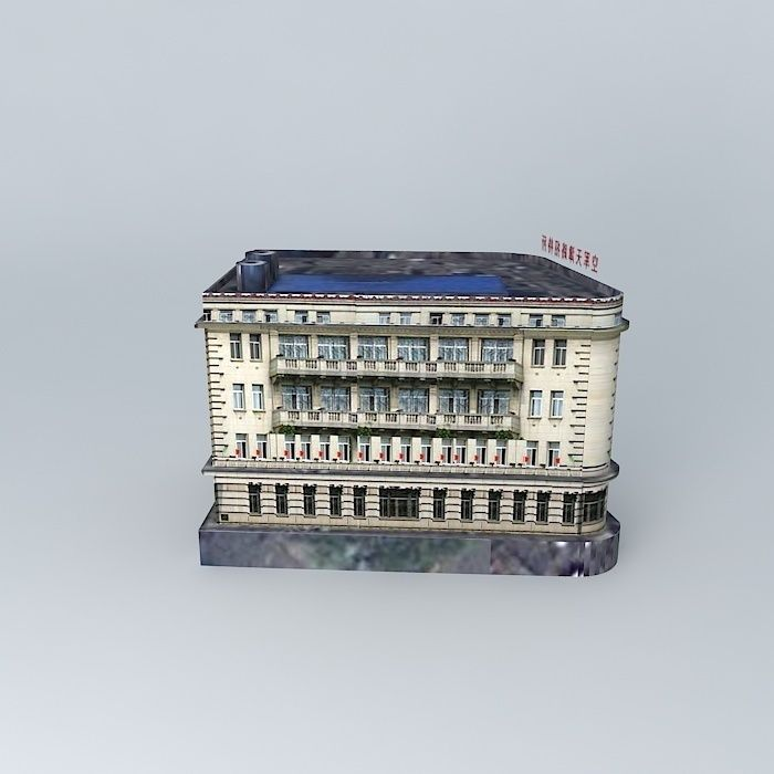 Hankou road tianjin guest house 3d model max obj 3ds for Guest house models