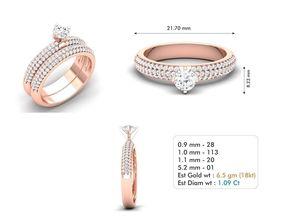 fashion-ring gem 3dm file