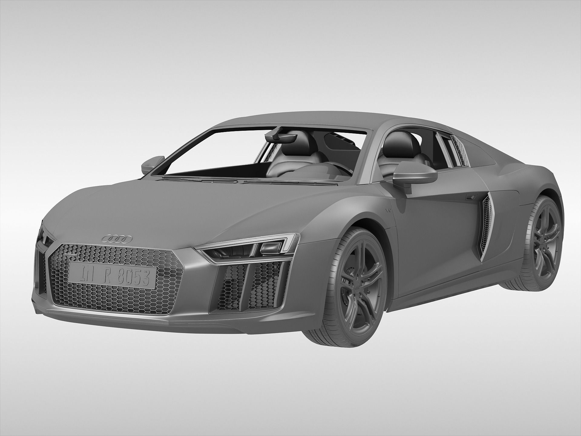 audi r8 v10 coupe 2016 3d model max obj 3ds fbx. Black Bedroom Furniture Sets. Home Design Ideas