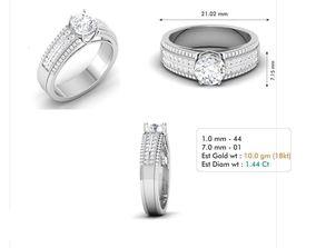 3dm file diamond-ring engagement