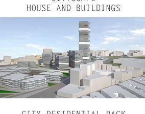 Low Poly City Urban Area - Metropolitan Cityscape 3D model