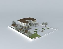 3D Big contemporary house