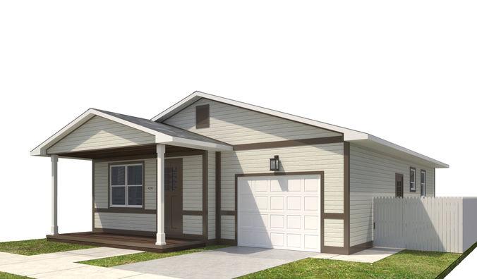 house-038 3d model max obj mtl 3ds fbx dwg 1