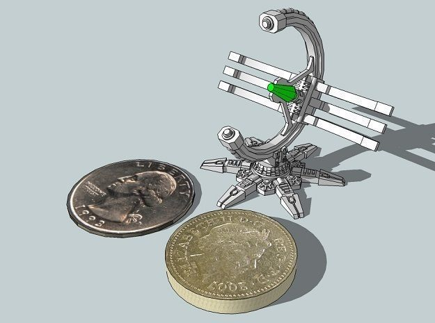 6mm DeathBot Death-Ray Emplacement | 3D Print Model