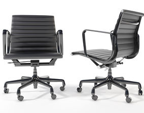 3D Eames Aluminum Group Management Chair