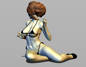 Pretty woman on the floor 3D print model