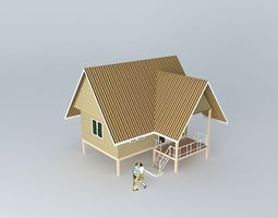 Small vacation cottage 3D model