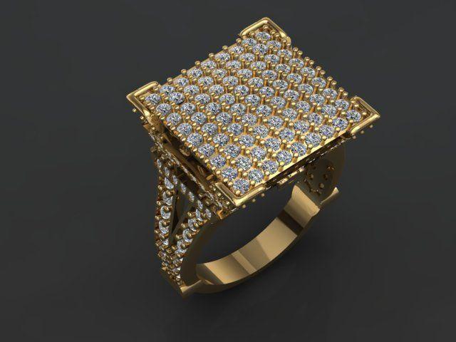 women ring no05 3d model obj mtl stl 3dm 1
