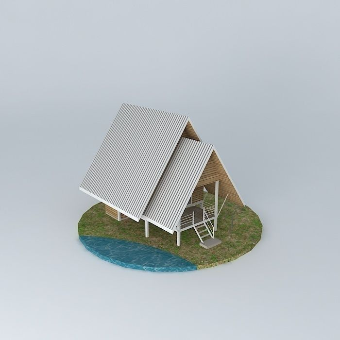 Home Design Smallhouse: Small Vacation Cottage House 3D