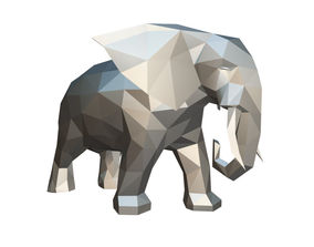 elephant figure low poly 2 3D printable model