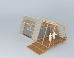 hut Small vacation cottage 3D