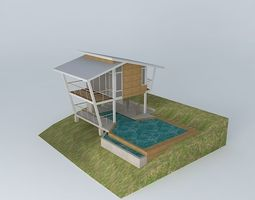 3D cable-wagon Contemporary vacation cottage