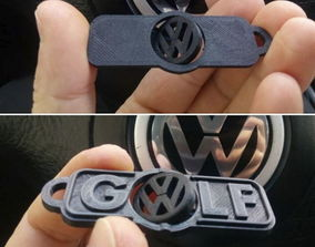 vw-golf-logo-keychain 3D printable model