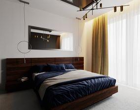 Modern Bedroom Scene for Cinema 4D and Corona 3D model