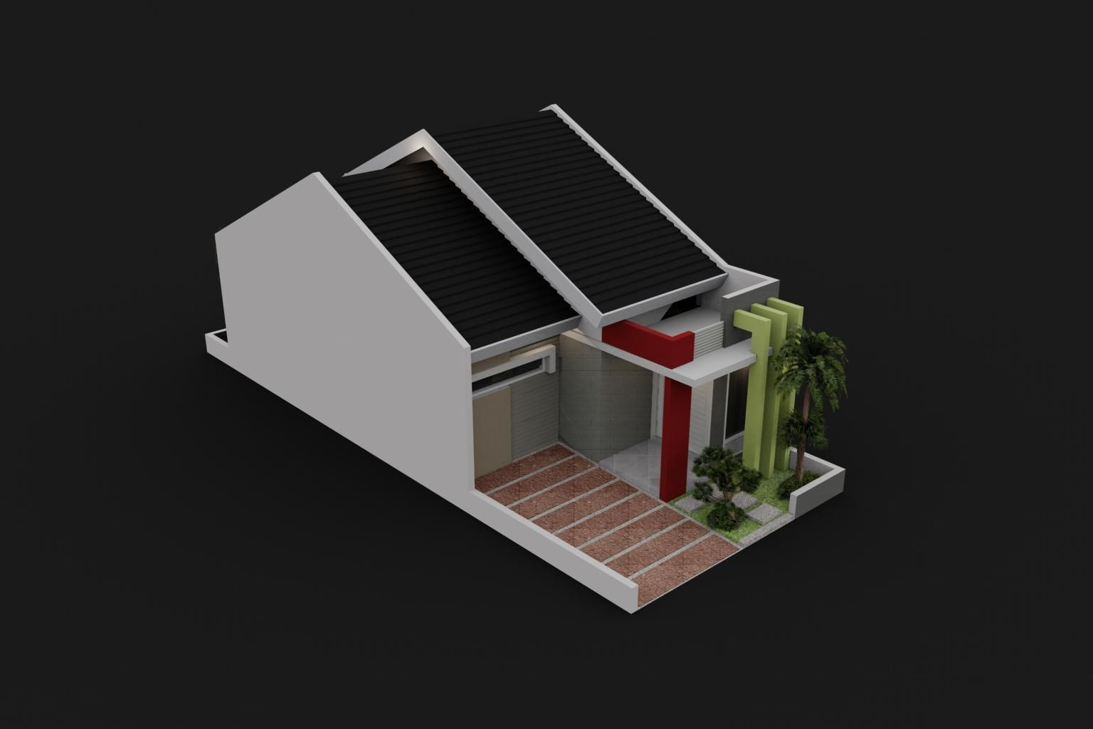 Small house design 3d model max for New model small house