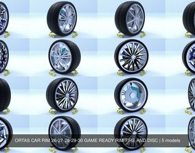 ORTAS CAR RIM 26-27-28-29-30 GAME READY RIM 3D model 2