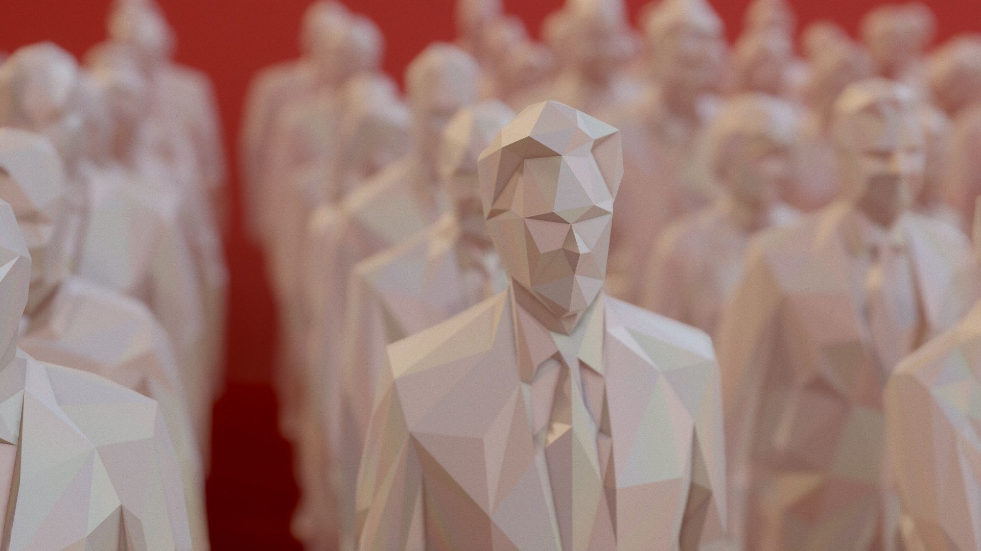 99 Low Poly Human People Figurines
