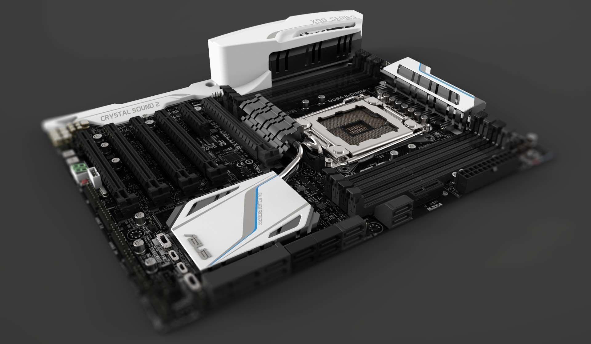Asus X99 Deluxe LGA 2011-3 Motherboard | 3D model