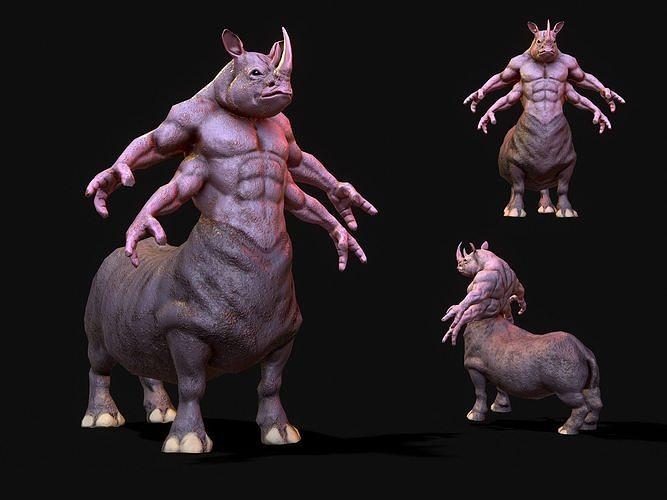 warrior rhino 3d model max fbx 1