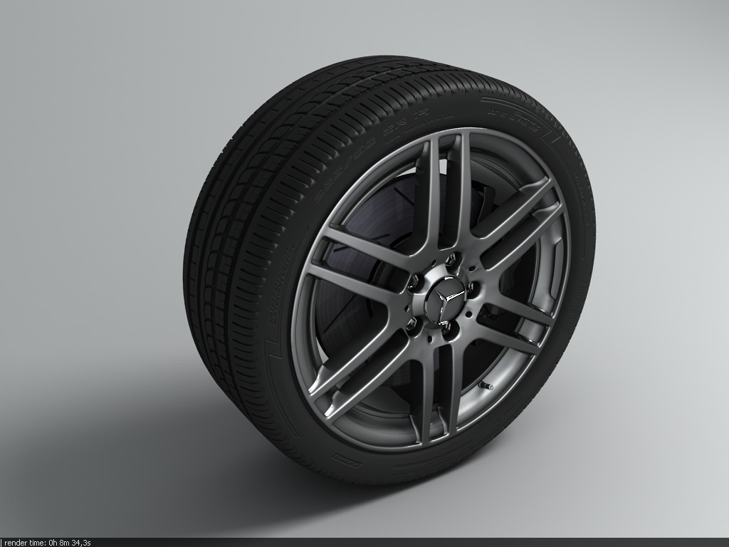 wheel 03 tyre mercedes benz amg 3d model max