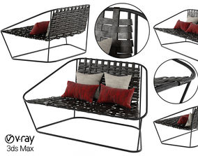 Small Sofa Arflex Cloud Carlo Colombo Armchair 3D model