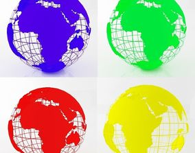 3D model All Colors Earth Globes