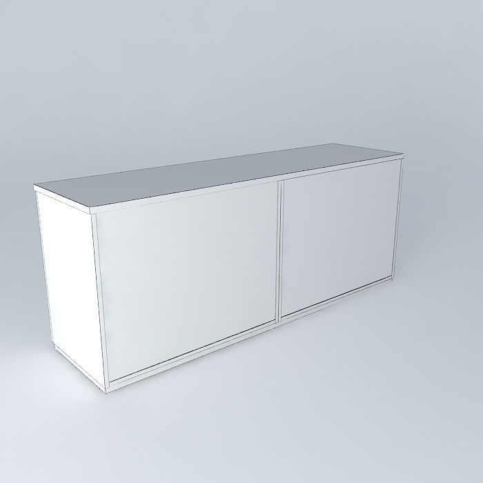 Armario baixo cabinet free 3D Model max obj 3ds fbx