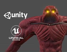 Big alien enemy - Rigged - Animated - PBR - 3D model