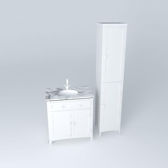 Bathroom Vanity And Storage Unit Cabinet Free 3d Model Max Obj 3ds Fbx Stl Dae