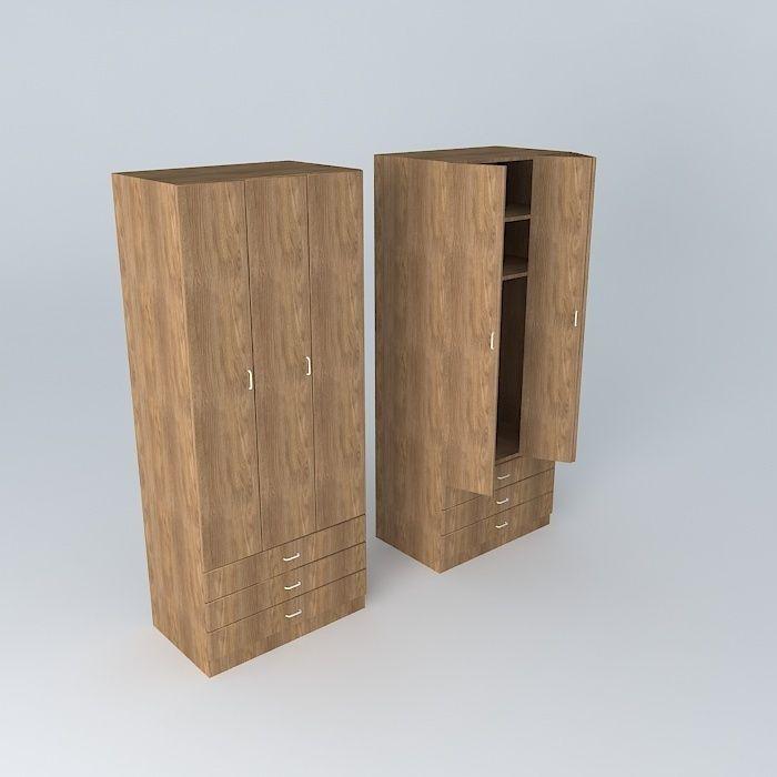 Single Wardrobe Oak