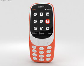 Nokia 3310 2017 Warm Red 3D