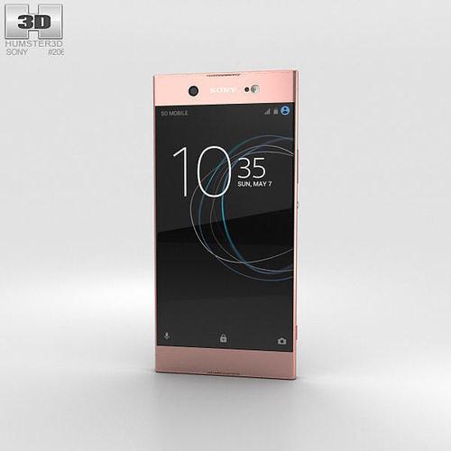 sony xperia xa1 ultra pink 3d model max obj mtl 3ds fbx c4d lwo lw lws 1