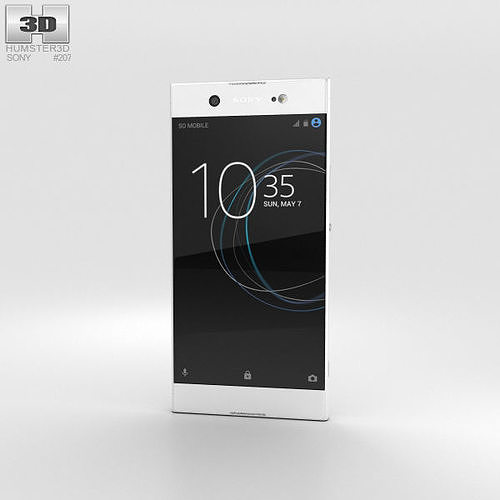 sony xperia xa1 ultra white 3d model max obj mtl 3ds fbx c4d lwo lw lws 1