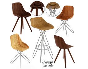 Harmony Chair designed Rodrigo Torres 3D model