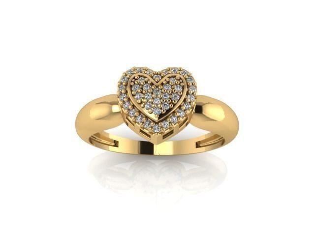 heart ring 001 3d model stl 3dm 1