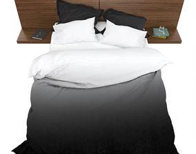 3D model Striped bed furniture