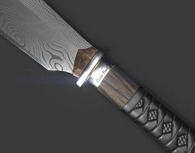 3D Hunting knife